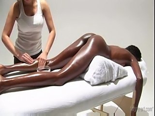 Very hot! white girl massaging black ebony princess and mast free