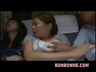 Fuck daughter and mother is sleeping nearby on bus 03  free