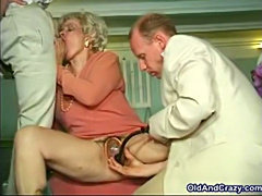 Grannies pumped and porked
