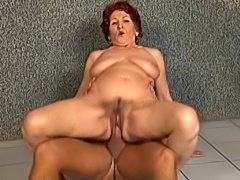 Old granny hardcore fucked by young stud