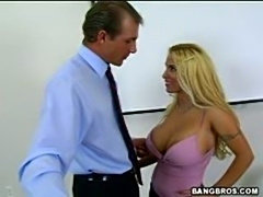 Hardcore Milf teacher Holly Halston riding bigcock in class