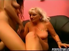 You love the naughty grandma! Watch these hot seniors licking their old...