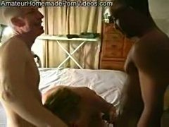 White nympho has interrcial threesome