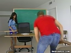 Latina bigtits teacher doggyfucking hardcore in the classroom