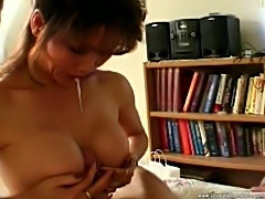 Asian milf eats his dick until he cums hard