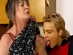 Mature Granny Anal Fucked and facial Garage