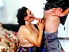 Granny loves anal sex with two dicks