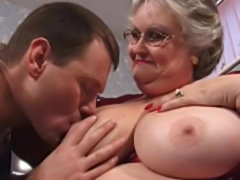 Office granny with bigboobs hardcore pounding