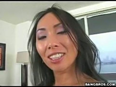Asian Milf with round ass grinding bigcock in her pussy