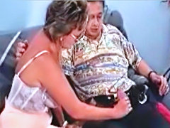 Hairy pussy Mature blows and fucks Young dude