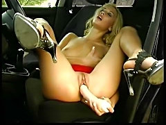 Hot Blond in car part 2