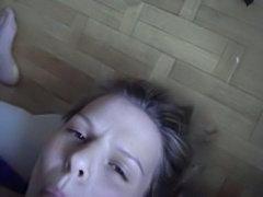 Horny MILF sucking a dick