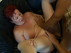 Redhead Milf after party threesome sex