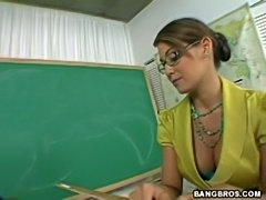 Stunning horny Milf teacher drilled from behind by her student