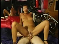 Small tit wife sitting on hot dick