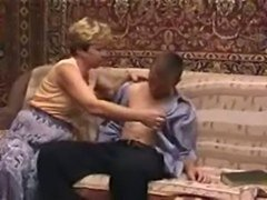 Older blonde can not get enough young cock