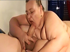 Big ass BBW sucking and slamming big cock