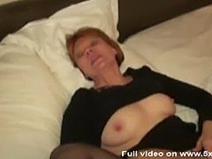 French mature double fucked in nylon