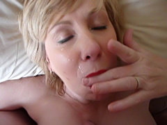 Mature blowjob and cumshot
