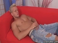 Hung guy fucks neighbour granny