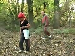 Old Couple Fuck  in the Woods