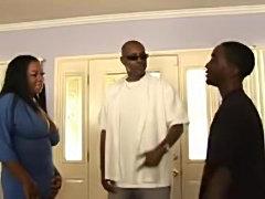 Busty ebony gets her asshole rammed