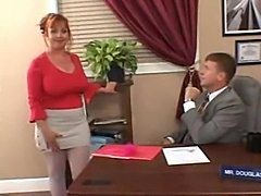 Chubby milf redhead secretary fucked in office