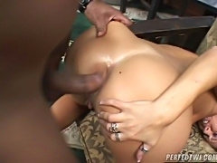 This blonde bitch has a wet snatch and big tits! Play with this horny slut, lick her juicy pussy and she'll get so horny that she'll let you fuck her tight asshole and you can cum all over her face!