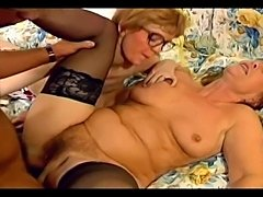 Granny and mature sluts trying to satisfy eager and horny young stiffed stud