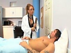 Horny doctor janet mason fucking her young patient  free