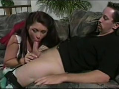 Brunette mature gives head and gets fucked hard