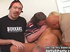Jackie 3 Hole Creampie Bukkake Bang with Dirty D
