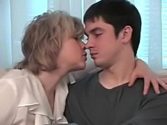 Russian mom with young son