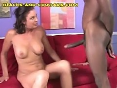 Nice black cumshot on milf  free