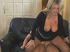 Blonde Milf in Fishnet Stockings Fucks - xHamster.com