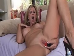 Toying milf jodi west masturbates  free
