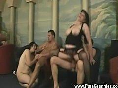 Granny sex orgy pov style