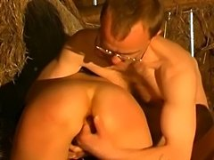 Mature french couple fucking and fisting outdoor.