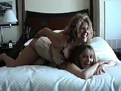 Lesbian scene features girls in lingerie