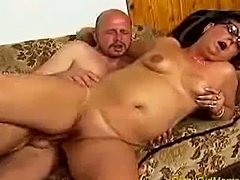 Nasty old mom gets fucked hard and does blowjob sex