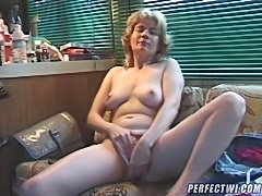 Look at this mature bitch playing with her favorite vibrator! She wants sex, give her some fun: slide your hard cock deep in her ass hole and make her scream!