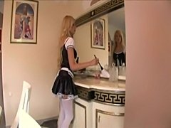 Maid fucking in her uniform and opaque stockings  free
