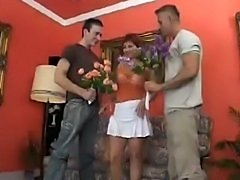 Horny MILF sexs up a two lucky guys
