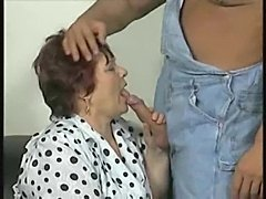 Horny mature fatty in stockings boned