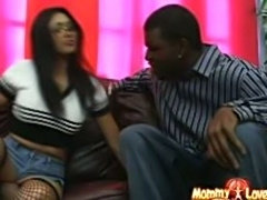 Horny asian bookworm mom Mika Tan fucks and takes a mouthful