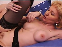 A sexy blonde mature has a yearning for hot young cock