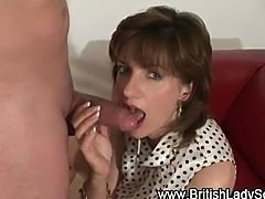 Mature british femdom blowjob cumshot
