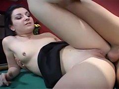 Old german porn. Renee Pornero gets analyzed on the pool table.