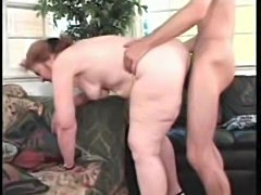 Granny in pearls gets fucked by young cock