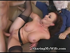 Wife's a slut for new cock  free